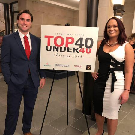 Celebrating Jessee being inducted to Style Weekly's Top 40 Under 40 Class of 2018.