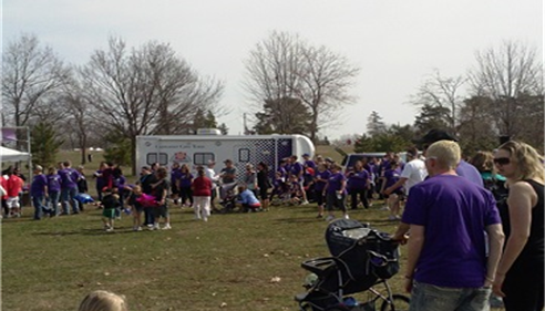 Farmers® truck at the 2013 Walk for Babies.
