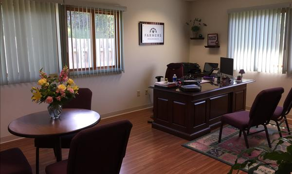 Inside Agent Joyce Felder's office.