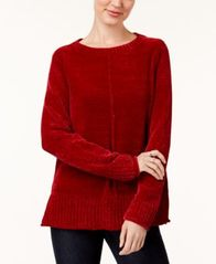 Image of Style & Co Crew-Neck Chenille Sweater, Created for Macy's