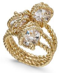 Image of Charter Club Gold-Tone Crystal Wrap Ring, Created for Macy's