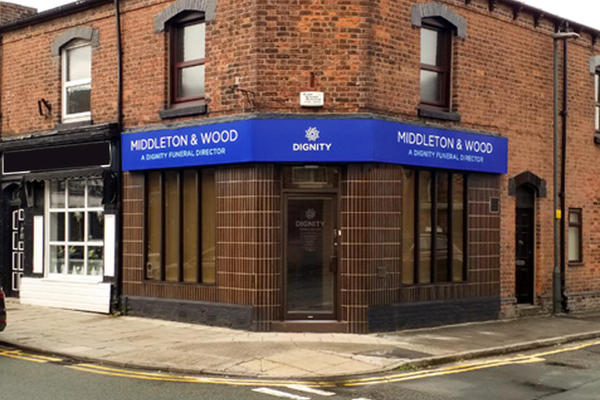 Middleton & Wood Funeral Directors in Golborne, Wigan.