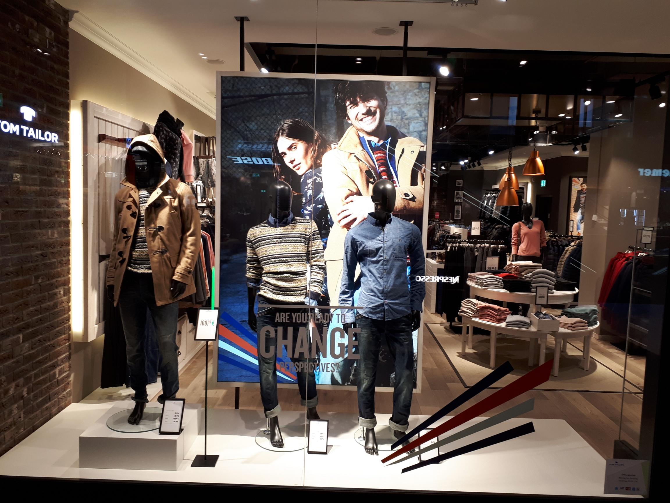 verschiedene Stile hochwertige Materialien günstig TOM TAILOR Store Höfe am Brühl Leipzig