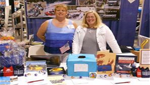 Jeannie & staff at local Novi Boat show ..