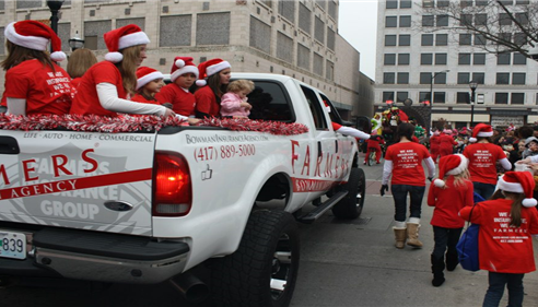 The Bowman Agency truck at the Springfield, Missouri Christmas parade.