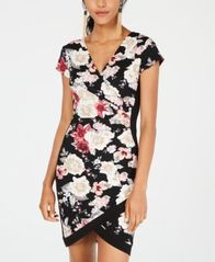 Image of Almost Famous Juniors' Framed Wrap Dress