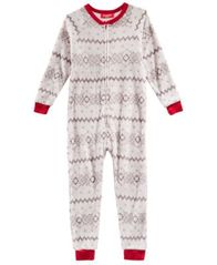 Image of Matching Family Pajamas Winter Fairisle One-Piece, Available in Toddler and Kids, Created for Macy's