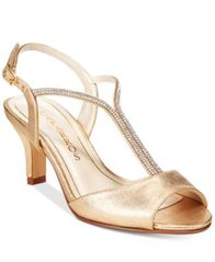 Image of Caparros Delicia T-Strap Evening Sandals