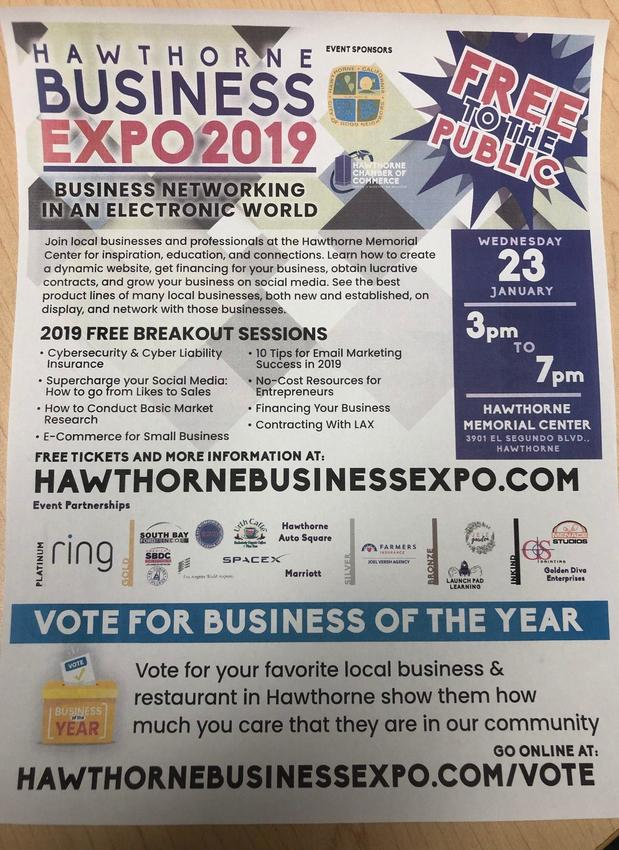 2019 Hawthorne Business Expo Silver Sponsor and Breakout Speaker