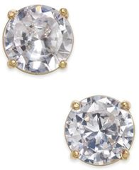 Image of Charter Club Gold-Tone Crystal Stud Earrings, Created for Macy's