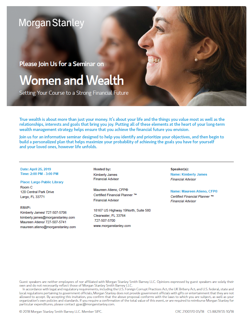 Kimberly James | Clearwater, FL | Morgan Stanley Wealth