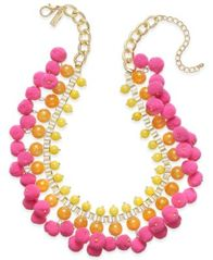 Image of M. Haskell for INC International Concepts Gold-Tone Stone & Pom-Pom Statement Necklace, Created for