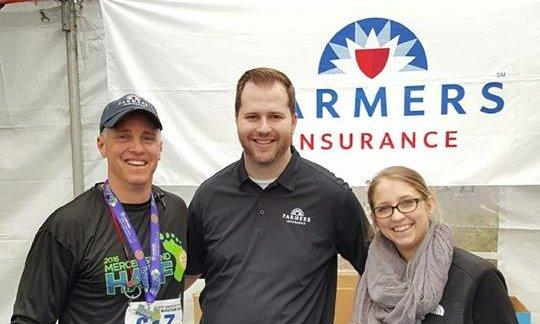 agency staff at the Mercer marathon