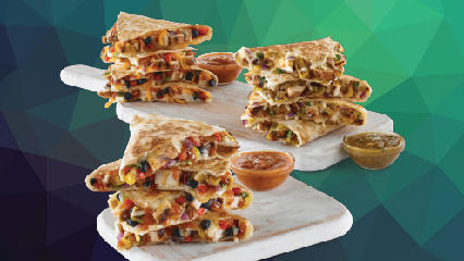 Island Chicken Quesadilla and Sante Fe Chicken Quesadilla