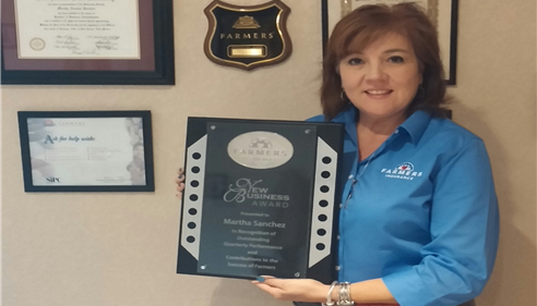 The Martha Sanchez Insurance Agency was awarded the 2014 New Business Award.