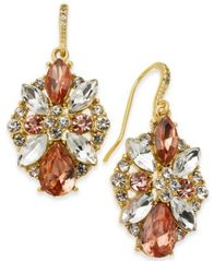 Image of Charter Club Multi-Crystal Cluster Drop Earrings, Created for Macy's