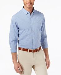 Image of Club Room Men's Classic-Fit Stretch Mini-Gingham Shirt, Created for Macy's