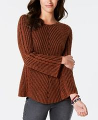 Image of Style & Co Ribbed and Cabled Fitted Sweater, Created for Macy's