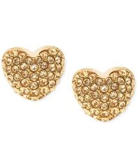 Image of Michael Kors Pavé Heart Stud Earrings
