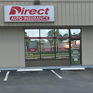 Front of Direct Auto store at 3757 South Orlando Drive, Sanford