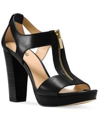 Image of MICHAEL Michael Kors Berkley T-Strap Platform Dress Sandals