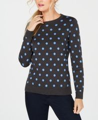 Image of Charter Club Patterned Crew-Neck Sweater, Created for Macy's