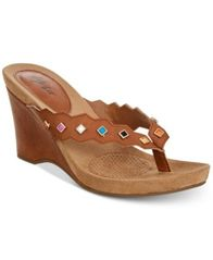 Image of Style & Co Chicklet Wedge Thong Sandals, Created for Macy's