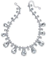 "Image of Charter Club Silver-Tone Crystal All-Around Frontal Necklace, 17"" + 2"" extender, Created for Macy's"