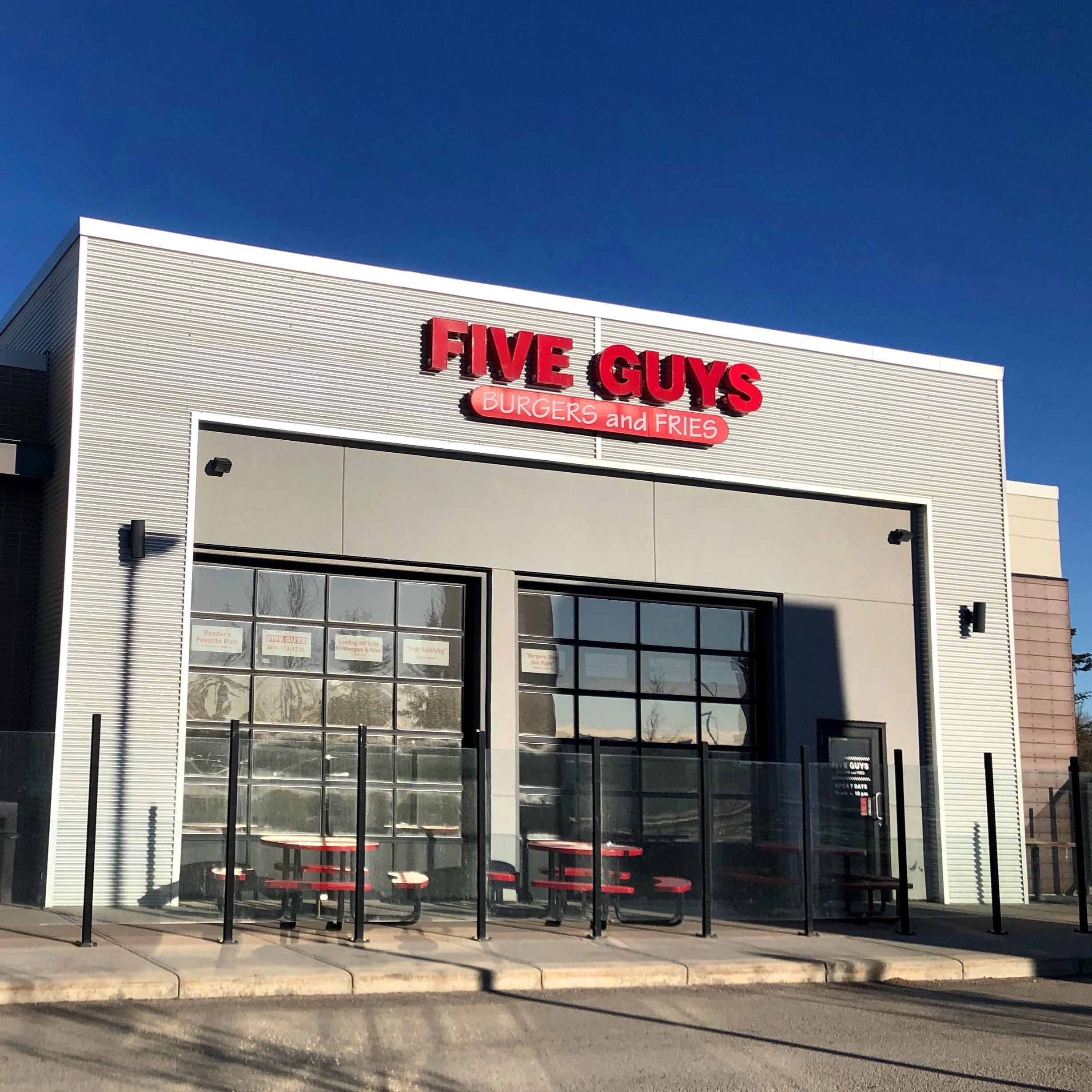 Five Guys at 8650 112 Ave. NW in Calgary.