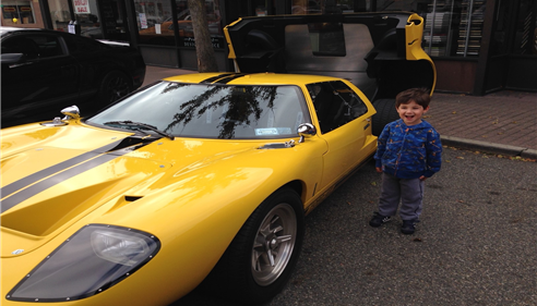 My son at the Pompton Lakes, NJ Car Show 10/13/13