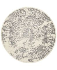 Image of Safavieh Adirondack Ivory and Silver 4' x 4' Round Area Rug