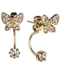 Image of lonna & lilly Gold-Tone Crystal Butterfly Front-Back Earrings