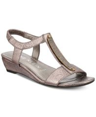 Image of Anne Klein Melessa Embellished Wedge Sandals