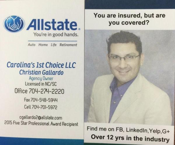 allstate home auto insurance quotes carolina 39 s 1st choice llc charlotte nc. Black Bedroom Furniture Sets. Home Design Ideas