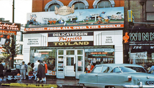 Old Toyland store in downtown Painesville circa 1960's.