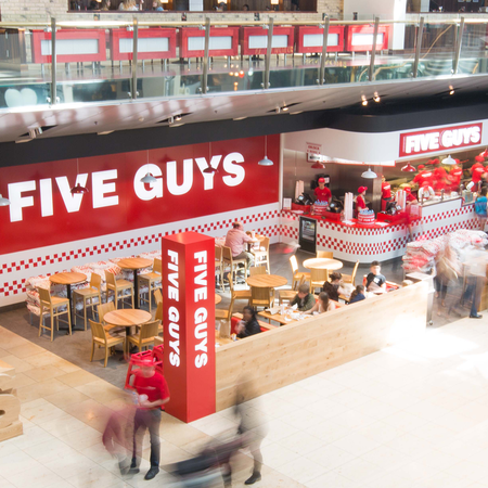 Five Guys Burgers and Fries Restaurant Bluewater Shopping Centre Greenhithe