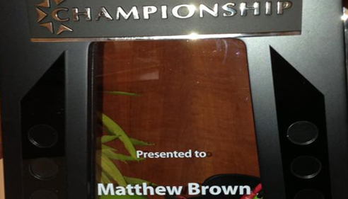 2012 Championship Award: returned home to Arkansas and The Brown Agency