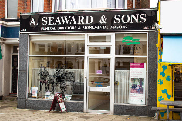 A Seaward & Sons Funeral Directors in Palmers Green, London.