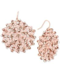 Image of Kenneth Cole New York Colored Bead Woven Drop Earrings