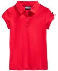 Image of Nautica School Uniform Bow-Sleeve Polo, Little Girls (4-6X)