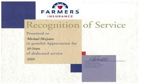 Farmers® recognition