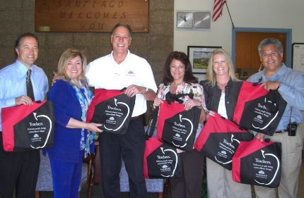 Bags for the Teachers at Santiago Middle School