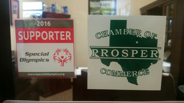 Proud supporter of Prosper chamber and special Olympics.