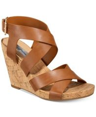 Image of I.N.C. Women's Landor Strappy Wedge Sandals, Created for Macy's