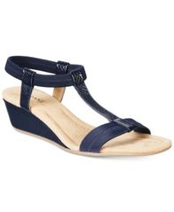Image of Alfani Women's Voyage Wedge Sandals, Created for Macy's