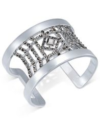 Image of INC International Concepts Colored Crystal Cuff Bracelet, Created for Macy's