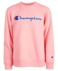 Image of Champion Big Girls Heritage Logo Sweatshirt