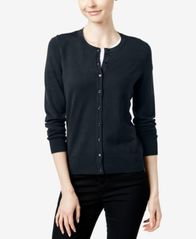 Image of Charter Club Crew-Neck Cardigan, Created for Macy's