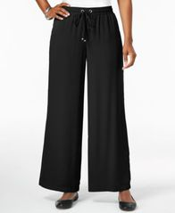 Image of JM Collection Wide-Leg Drawstring Pants, Created for Macy's