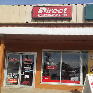 Front of Direct Auto store at 2914 Highway 80 East, Pearl